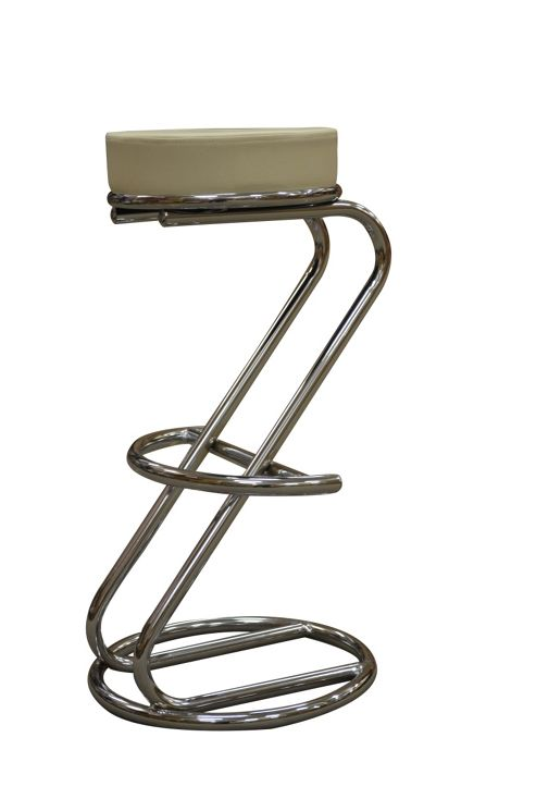 Z Cream Faux Leather Kitchen Bar Stool