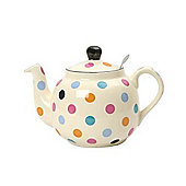 London Pottery Farmhouse Filter Teapot, 4 Cup, Multicolour Spots