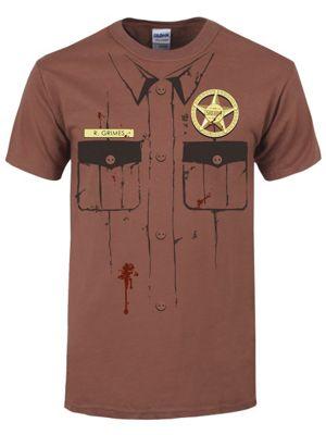 R Grimes Brown Men's T-shirt