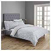 Fox & Ivy  Damask  Duvet Set - Grey