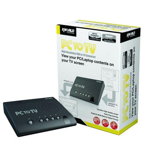 USB PC To TV Box Switch Signal Converter Laptop VGA AV