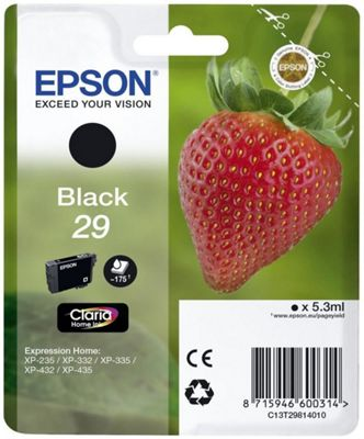 Epson C13T29814022 5.3ml 175pages Black ink cartridge