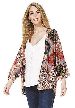 F&F Mosaic Printe Kimono Jacket - Multi