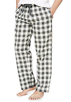 F&F Checked Flannel Lounge Pants - Grey & Cream