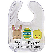 Dirty Fingers, My 1st Easter, Spoil me with Chocolate, Baby Unisex feeding Bib with Subli Print