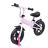 "Homcom 12"" Kids Learner Balance Bike Training Bicycle with Brake (Pink)"