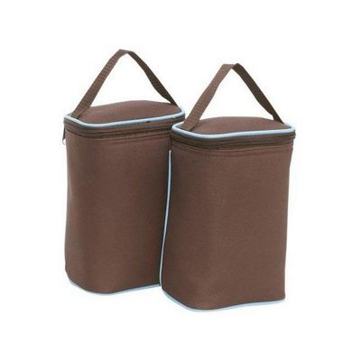 JL Childress Tall TwoCool 2 Can Cool Bag, Cocoa/Blue