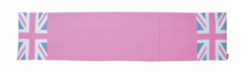 Woven Magic Union Jack Pink Duck Runner Rug - Small