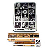 Star Wars Personalised Silver Stationery Set
