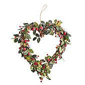 Light Up Berry Christmas Door Wreath
