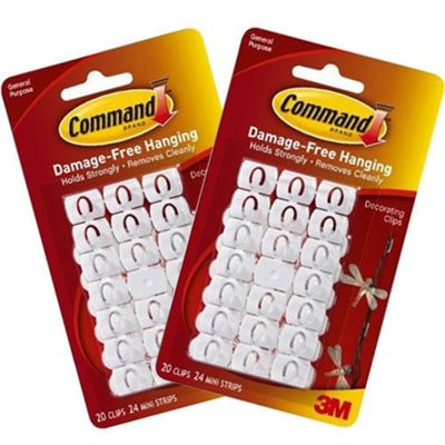 Buy 40 x Christmas Light & Decorating Clips & Command Strips - Value ...