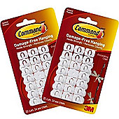 40 x Christmas Light & Decorating Clips & Command Strips - Value Pack 17026-VP