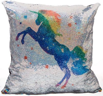 Colourful Unicorn Sequin Cushion