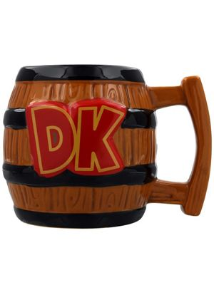 Nintendo Donkey Kong Shaped 10oz Brown Ceramic Mug