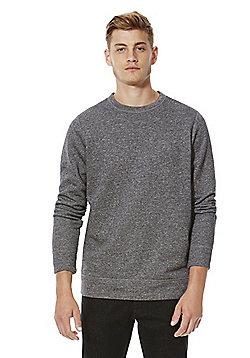 F&F Textured Crew Neck Sweatshirt - Grey