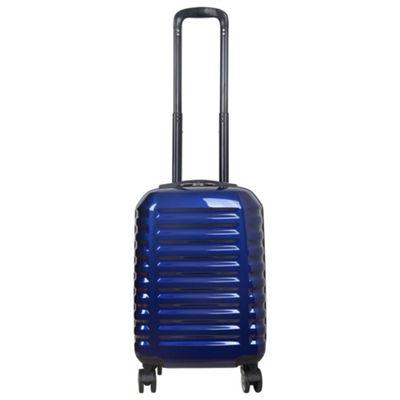 Tesco Vienna Cabin Gloss Blue 8 wheel Suitcase