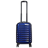 Tesco Vienna Cabin Gloss Blue 8 wheel Suitcase