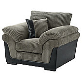 Kendal Jumbo Cord Armchair, Dark Grey