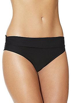 F&F Shaping Swimwear Foldover Bikini Briefs - Black