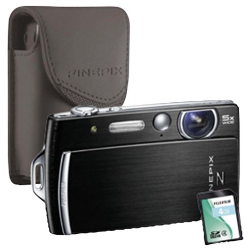Fujifilm FinePix Z110 Digital Camera bundle with matching coloured case and 4GB memory card, Black, 14MP, 5x Optical Zoom, 2.7 inch LCD screen