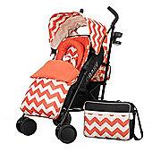 OBaby Zeal Stroller Bundle (ZigZag Orange)
