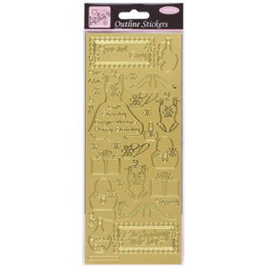 Outline Stickers Fashion Gold