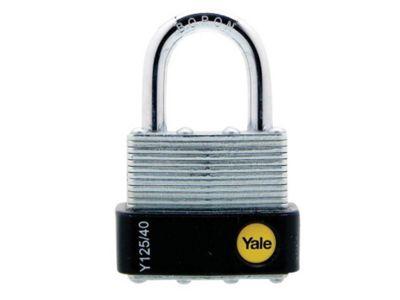 Yale Locks YALY12540 40 mm Laminated Steel Padlock
