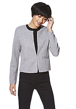 Vero Moda Quilted Short Blazer - Grey
