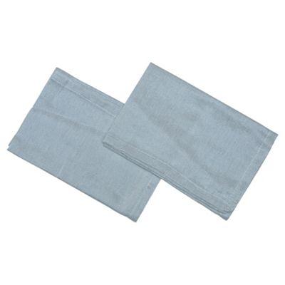 Set of 2 Silver Cotton Napkins