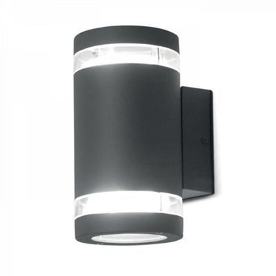 Graphite Wall Fitting - 2 x 9W GX53
