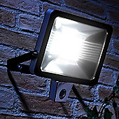 Auraglow Super Bright 50W LED Low Energy Motion Activated PIR Sensor Security Floodlight Outdoor Wall Light - 300w EQV - Black