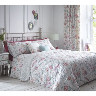 Dreams n Drapes Jade Pink 229x195cm Bedspread