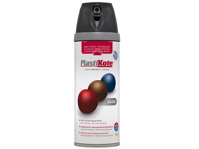 Plasti-kote Twist & Spray Satin Black 400ml