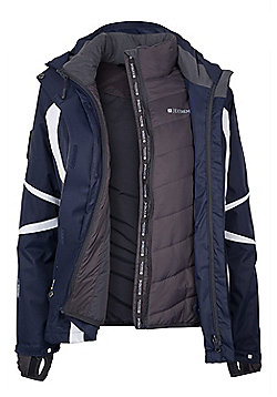 Arosa Extreme Womens Hooded Waterproof 3 in 1 Ski Snowboard Winter Jacket - Blue