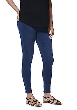 F&F Over-Bump Maternity Jeggings - Indigo Wash