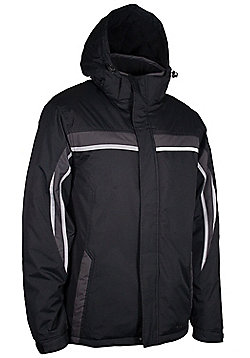 Jasper Men's Hoded Snowproof Insulated Windproof Ski Snowboarding Jacket - Black