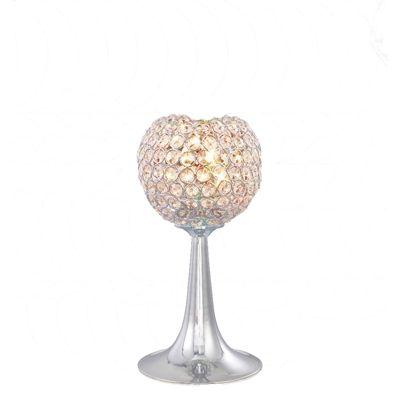 Ava Table Lamp 2 Light Polished Chrome/Crystal