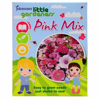 Little Gardeners Flower Seed Shaker Box - Pink Flower Mix