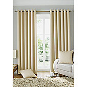 Alan Symonds Lined Solitaire Eyelet Curtains - Cream
