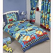 Construction Time Junior Duvet Cover and Pillowcase Set