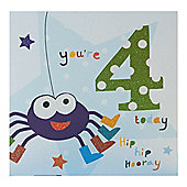 Blue Fizz Boys 4th Birthday Card