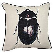 McAlister Printed Beetle Bug Cushion - Woven Jacquard