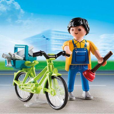 Playmobil Special Plus Handyman with Bike