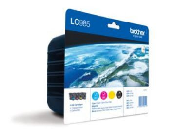 Brother LC985VALBP Blister Pack contains Black, Magenta, Yellow & Cyan Inkjet Cartridges