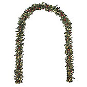 Pre-lit Luxury Berry and Cone Archway, 7.5ft (white LEDs)