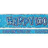 Dazzling Effects 100th Birthday Banner - 12ft (each)