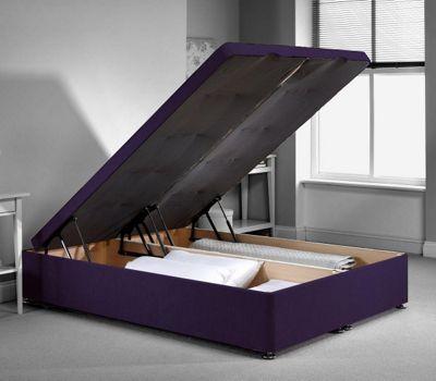 Richworth Ottoman Divan Bed Frame - Purple Chenille Fabric - Small Single - 2ft6