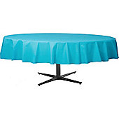 Turquoise Round Tablecover - Plastic - 86cm x 2.1m