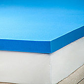 "1"" Single bed size gel feel foam mattress topper"