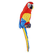 Kiwi the Wall Mountable 45cm Scarlet Macaw Parrot Garden Ornament